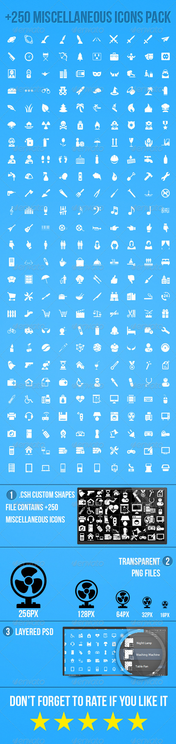GraphicRiver Miscellaneous Icons Pack 5786463