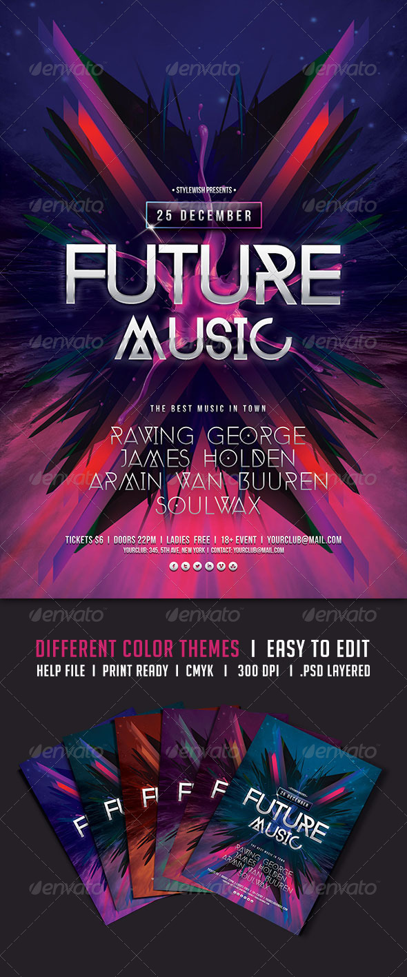 GraphicRiver Future Music Flyer 5786780