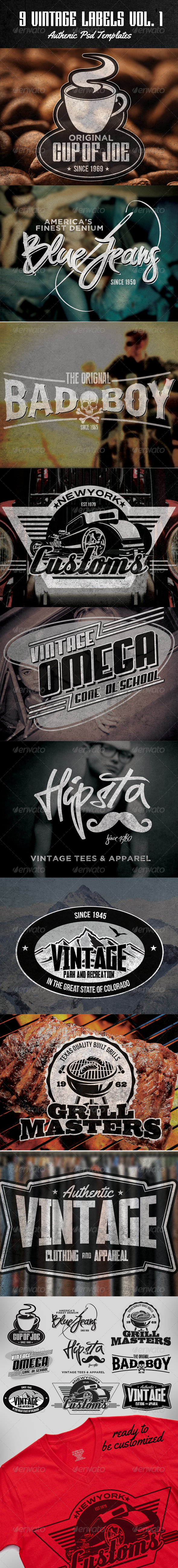 GraphicRiver OMG Vintage Labels Vol I 5788058