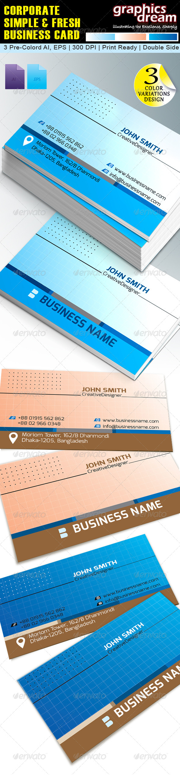 GraphicRiver Corporate Business Card GD002 5788423