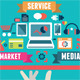 Flat Concept of Media Market Service - GraphicRiver Item for Sale