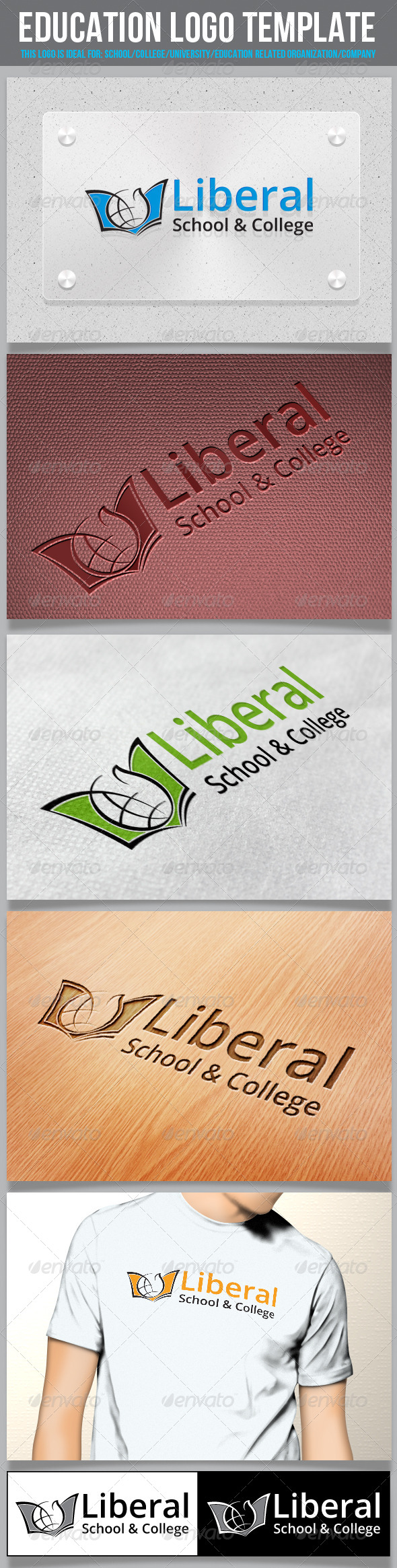 GraphicRiver Education Logo Template 5789510