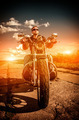 Biker on a motorcycle - PhotoDune Item for Sale