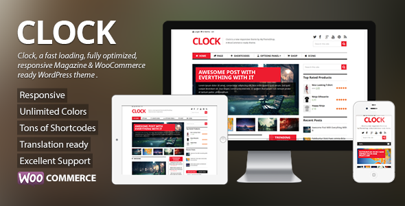 Clock - Magazine & WooCommerce Ready WP Theme - eCommerce WordPress