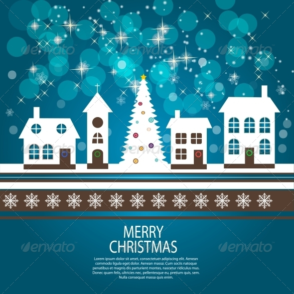 GraphicRiver Abstract Christmas and New Year Background 5791495