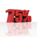 3D rendering of a 75 percent discount in red letters - PhotoDune Item for Sale