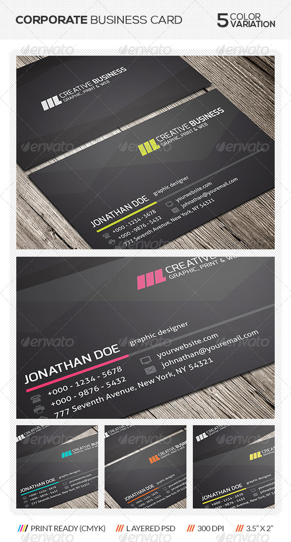 GraphicRiver Corporate Business Card 5792977