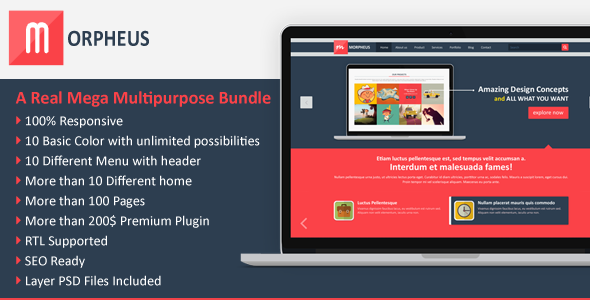 Morpheus Multipurpose Mega HTML Template - Corporate Site Templates