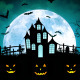 Halloween Castle Cemetery - VideoHive Item for Sale