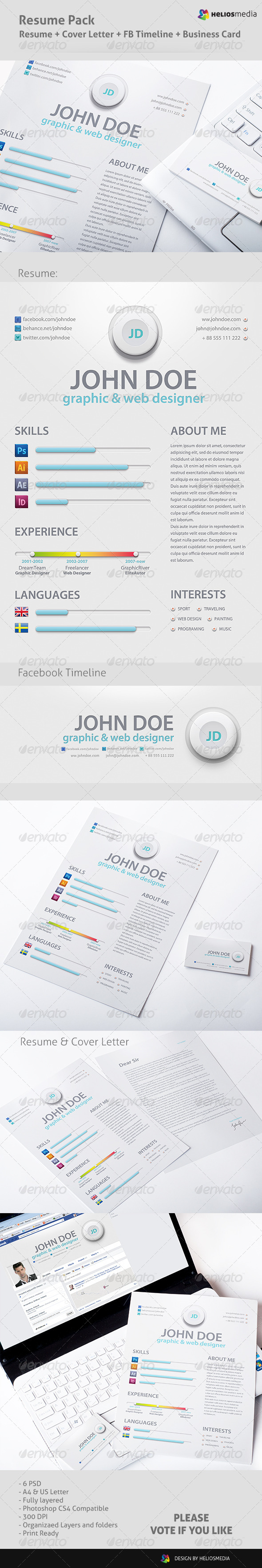 GraphicRiver Business Resume 5678195