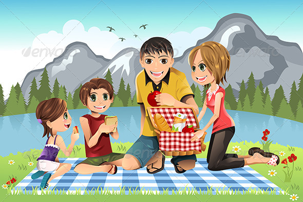 GraphicRiver Family Picnic 5796140
