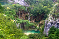 Plitvice waterfall landscape with lake - PhotoDune Item for Sale