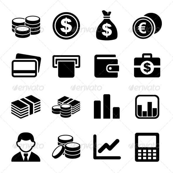 GraphicRiver Money icon set 5797395