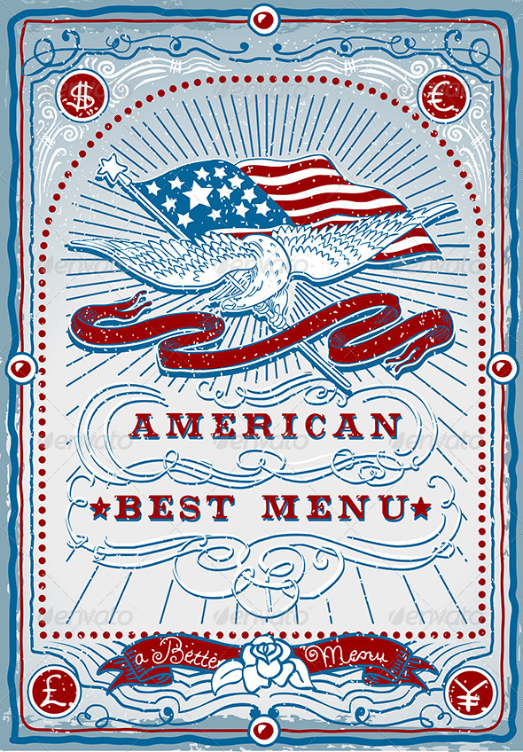 GraphicRiver Vintage Graphic Page for American Menu 5798135