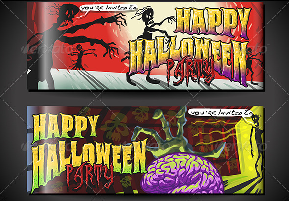 GraphicRiver Banners Invite for Halloween Party 5798154