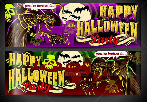 GraphicRiver Banners Invite for Halloween Party 5798168