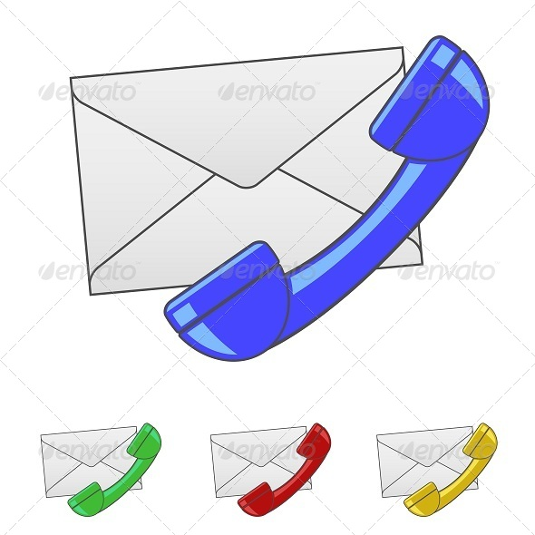 GraphicRiver Envelope with Handset Icon 5798388