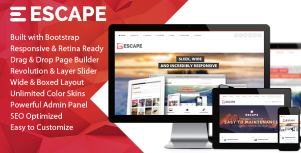 ThemeForest Escape Retina Responsive Multi-Purpose WP Theme 5722221