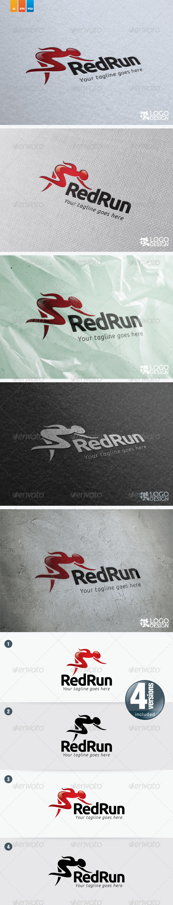RedRun - Humans Logo Templates