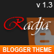 Radja - Responsive Blogger Template - ThemeForest Item for Sale
