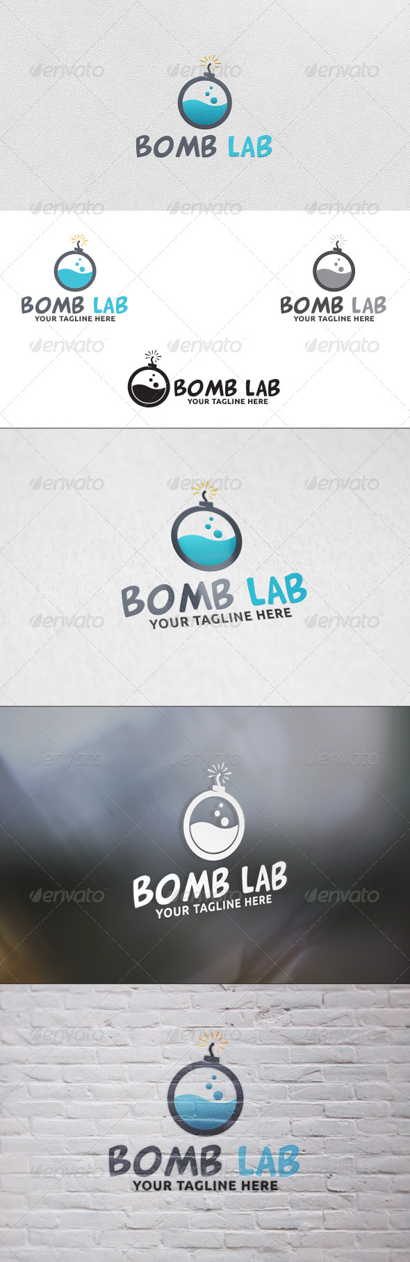 GraphicRiver Bomb Lab Logo Template 5801623