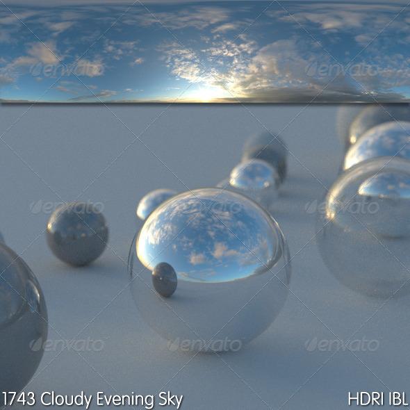 3DOcean HDRI IBL 1743 Cloudy Evening Sky 5802419
