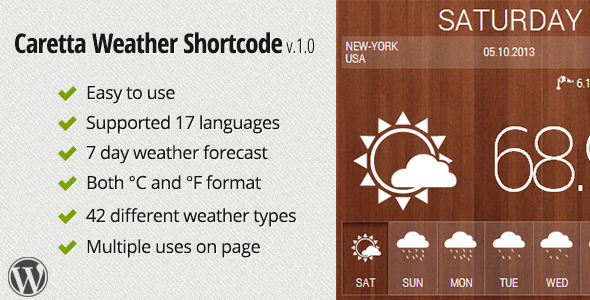CodeCanyon Caretta Weather Shortcode 5802665