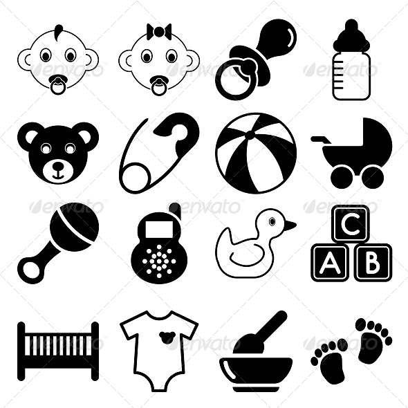 GraphicRiver Baby Icons 5803054
