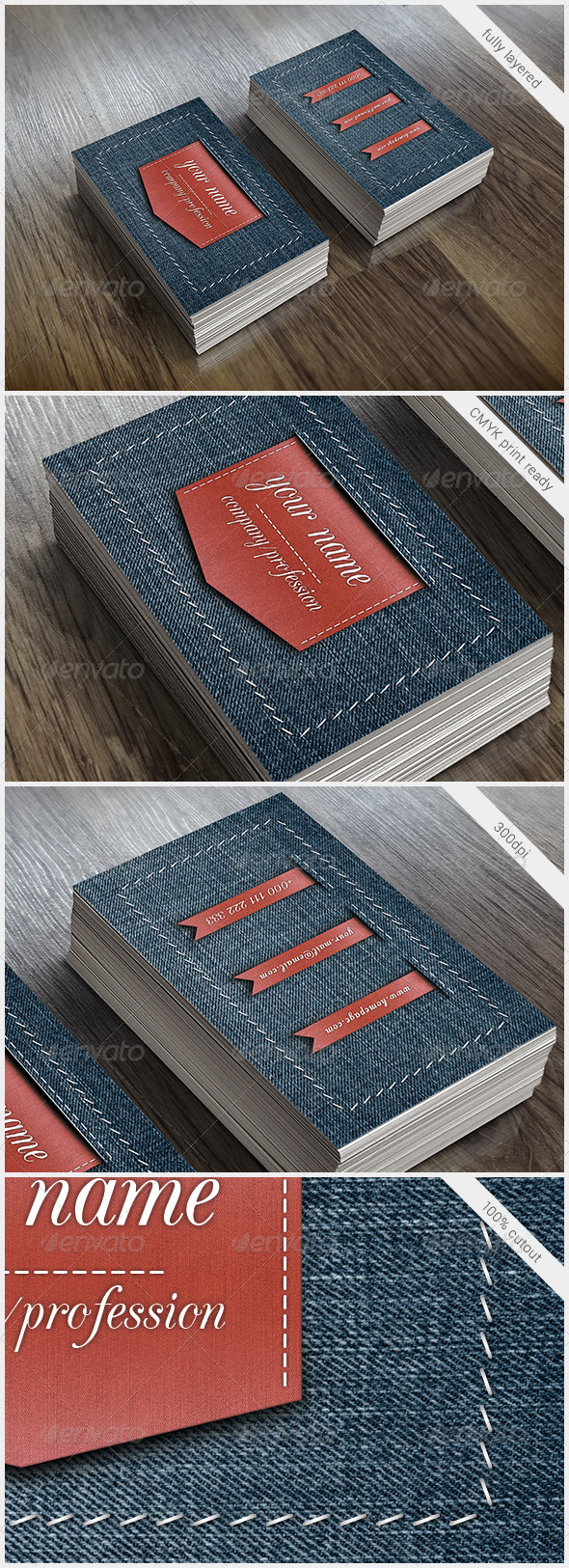 GraphicRiver Red Ribbon Vintage Business Card 5739953