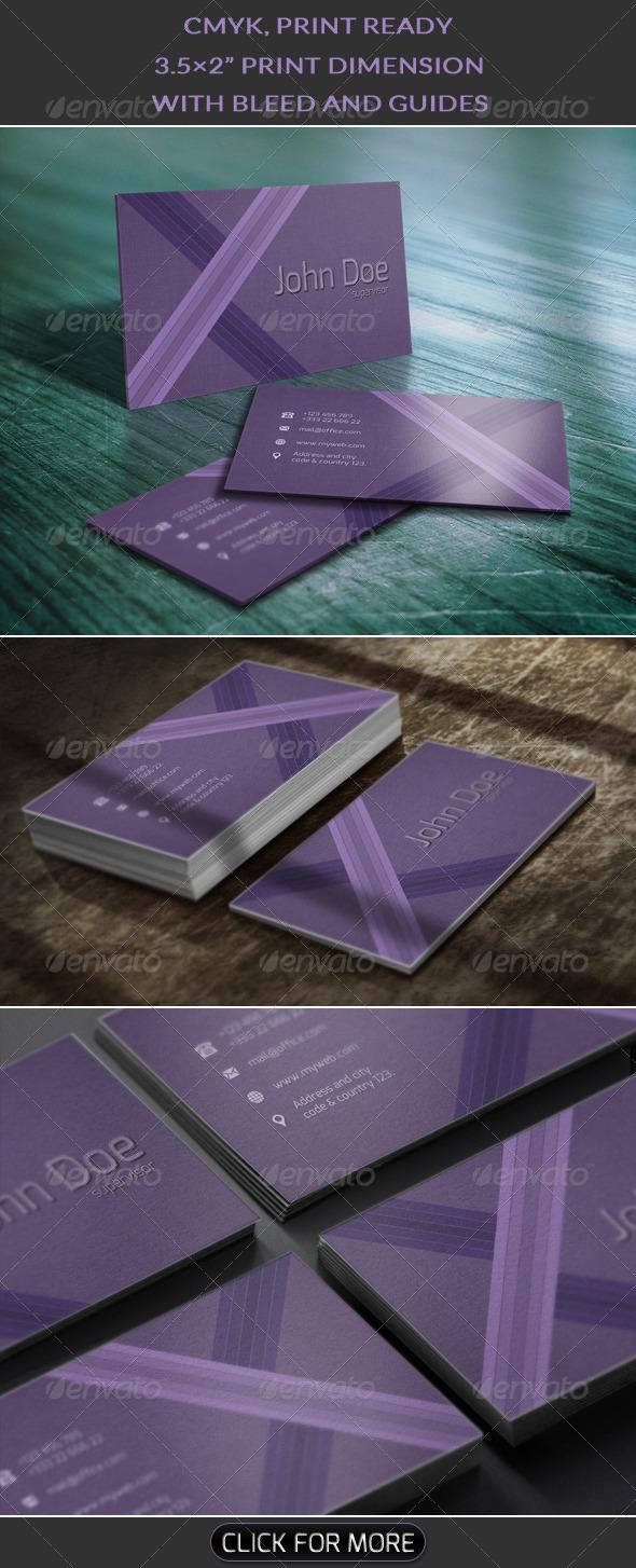 GraphicRiver Purple Business Card 5803653