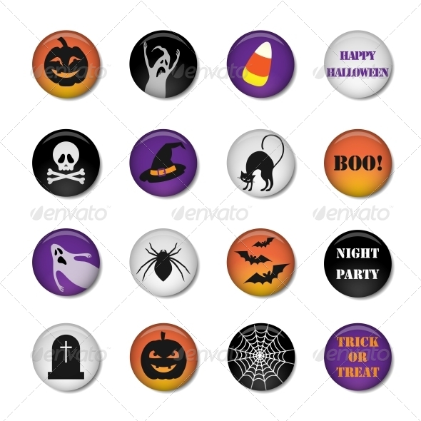 GraphicRiver Halloween Icons 5803970