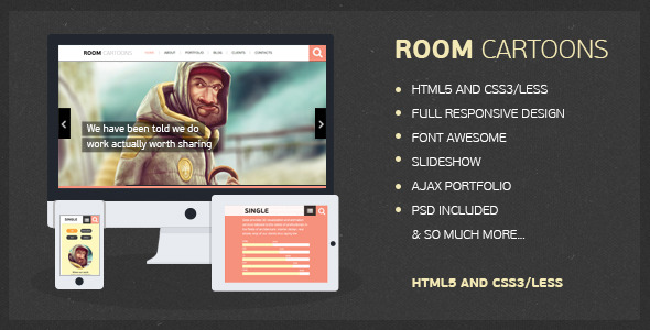 Room Cartoons - HTML Template