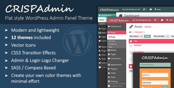 CodeCanyon CrispAdmin Modern Flat Admin Theme 5804365