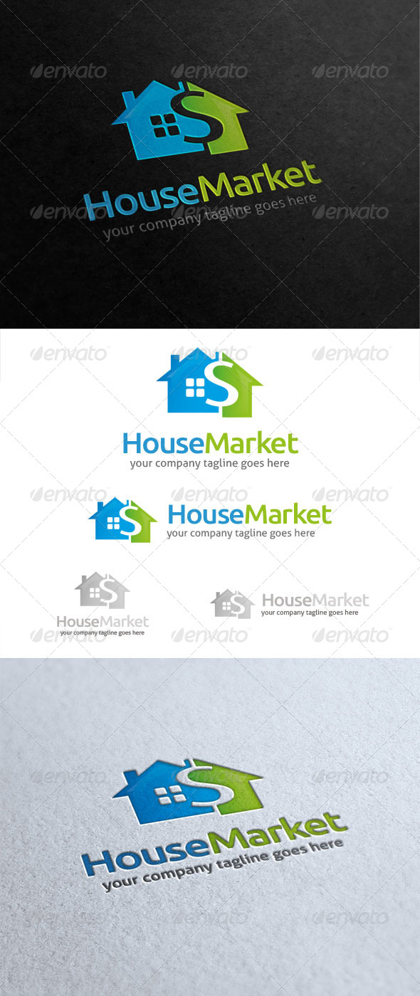 GraphicRiver House Market Logo 5798108