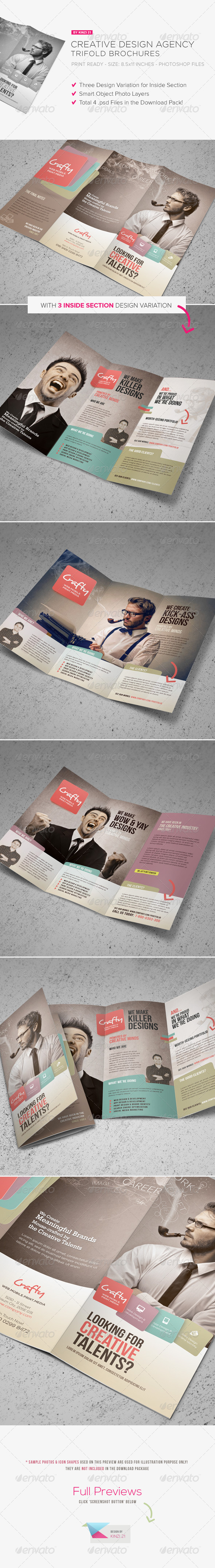 GraphicRiver Creative Design Agency Trifold Brochure 5743041