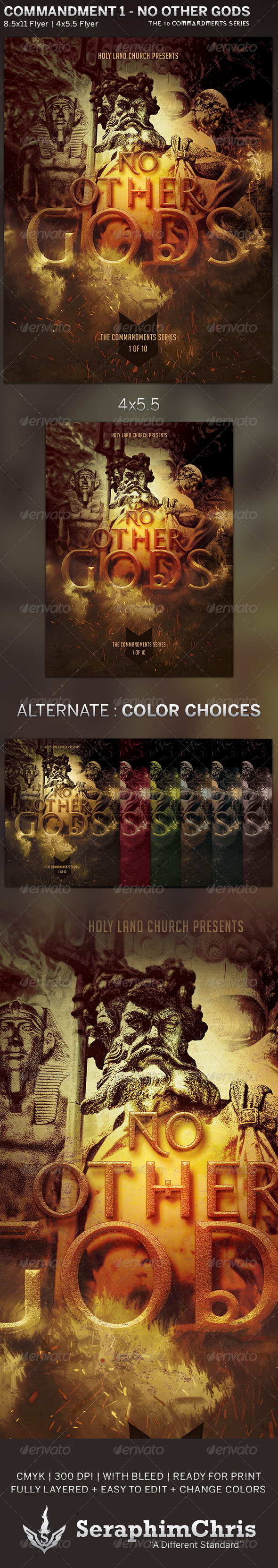 GraphicRiver No Other Gods Church Flyer Template 5806295