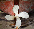 rusted ship's propeller on a old fisherman boat - PhotoDune Item for Sale