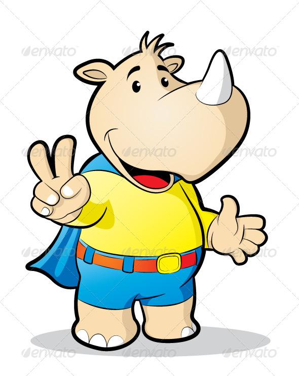 GraphicRiver Rhino Mascot 5807043