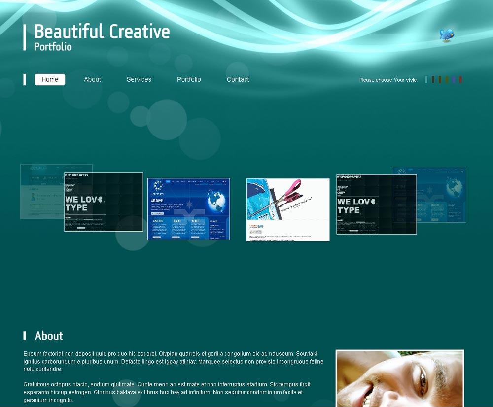 Beautiful Creative Portfolio - 3D Carousel