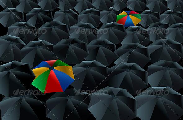 GraphicRiver Umbrellas 5808077