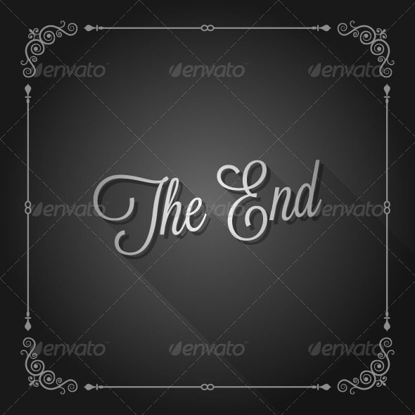 GraphicRiver The End Sign Movie Ending Frame 5808119