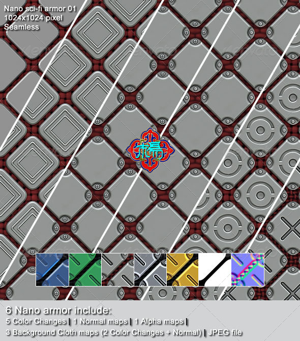 3DOcean Nano sci-fi armor 01 5808267
