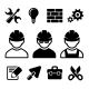Industrial Worker Icons Set - GraphicRiver Item for Sale