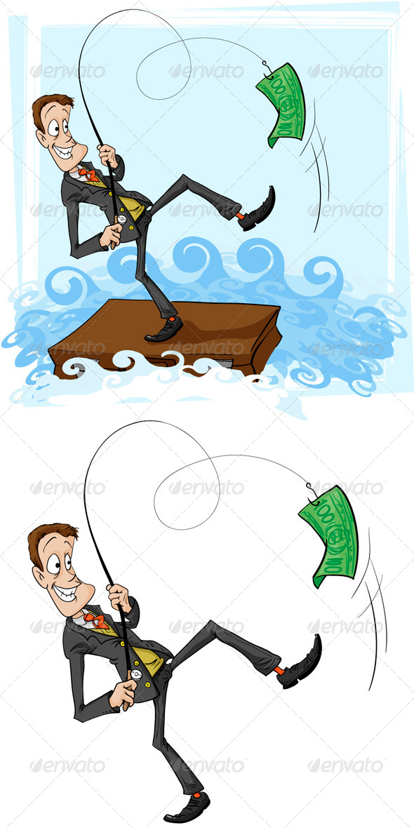 GraphicRiver A Catch is Businessman 5808961