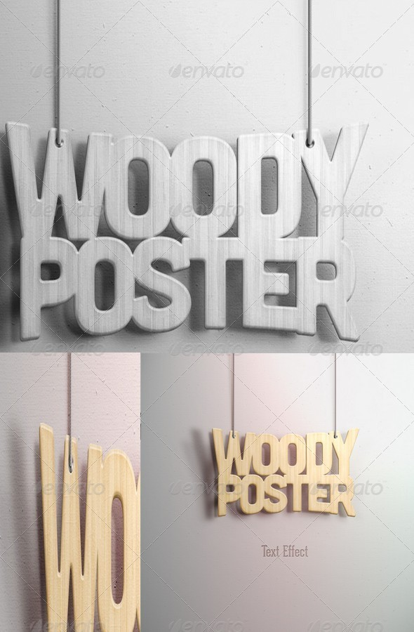 GraphicRiver Woody Poster 5810416