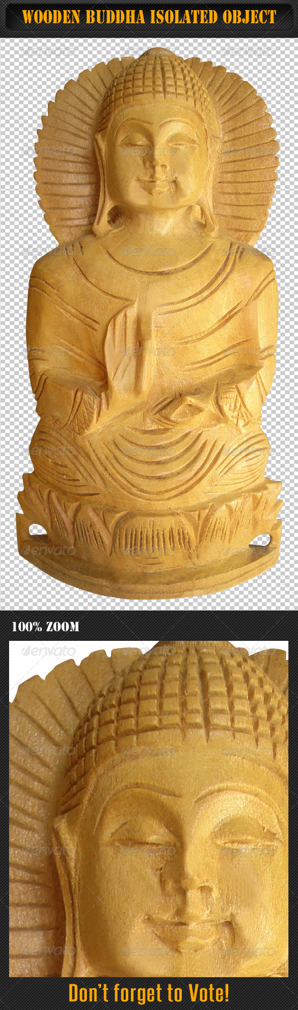 GraphicRiver Wooden Buddha Isolated Object 01 5755233