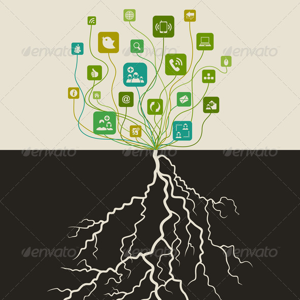 Communication a tree - Stock Photo - Images