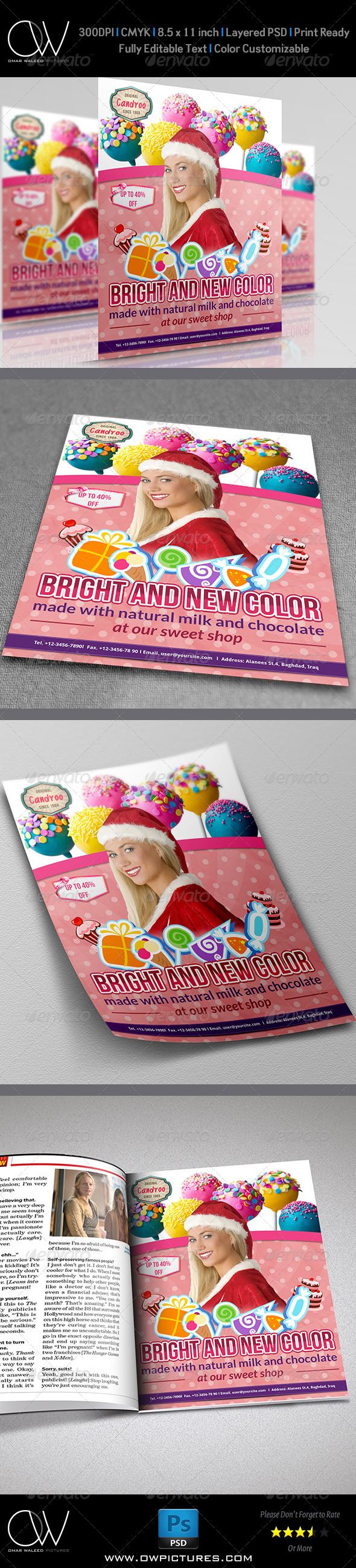 Candy Flyer Template - Corporate Flyers