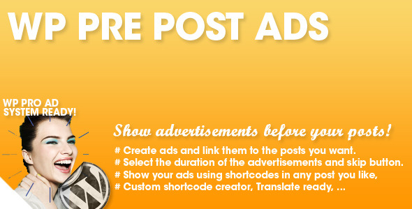 WP Pre Post Advertising - CodeCanyon Item for Sale