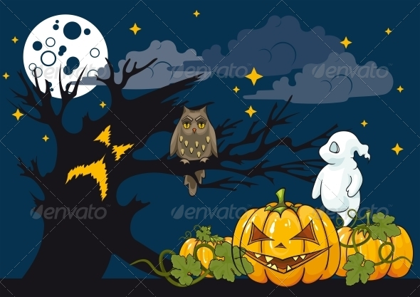 GraphicRiver Halloween Themed Illustration 5813096